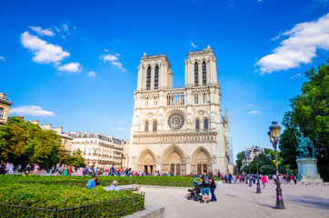 Famous cathedral Notre Dame de Paris in Paris, France.