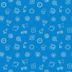 Start Up blue pattern. Vector seamless background