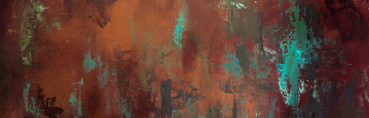 rusty texture, background, pattern, design, long banner