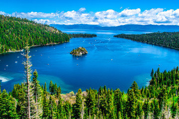 Piękny dzień w Lake Tahoe w Kalifornii