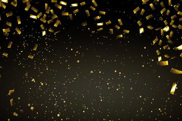 goldener konfettiregen hintergrund