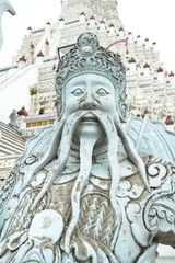 Chinese giant stone statue in Wat Arun.