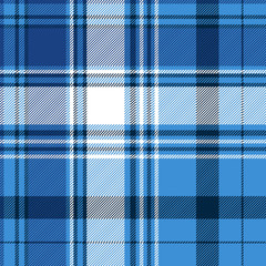 Blue tartan fabric texture