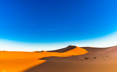 Desert landscape of the Sahara next to Mhamid in Morocco