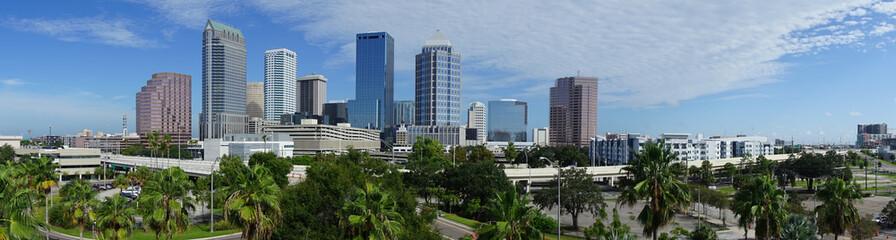 Urban Panoramic Downtwon City Skyline of Tampa Florida