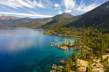 Aerial View of Lake Tahoe Shoreline