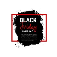 Black friday sale banner. Business poster