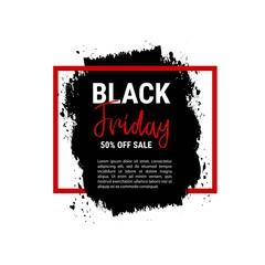 Black friday sale banner. Business poster