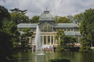 Crystal palace in el retiro park,