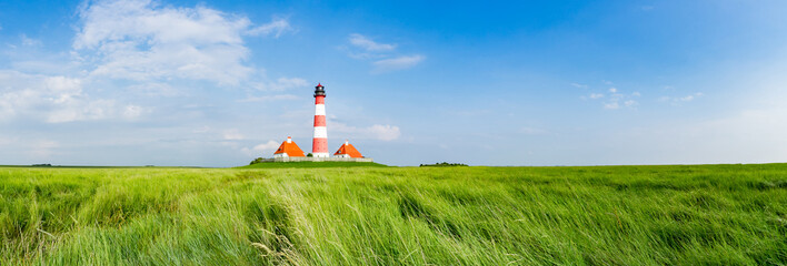 Typisches Norfriesland - Leuchtturm Westhever Sand, Banner