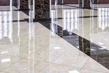 Marble floor in the luxury lobby of office or hotel