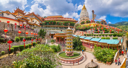 Kek Lok Si Temple panoramic view on Penang island, Georgetown, Malaysia