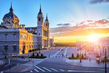 Madrid, Spain. Cathedral Santa Maria la Real de Almudena