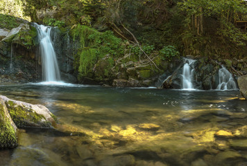 Waterfall Kamianka. Carpathian Mountains, Kamianka, Lviv oblast, Ukraine. Kamyanets waterfall in the Skolivsky Beskydy National Park. a wonderful waterfall in the Carpathian Mountains