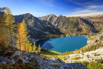 Fall colors in the Enchantments, Washington, USA.