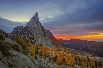 Dawn in the Enchantments, Waszyngton, USA.