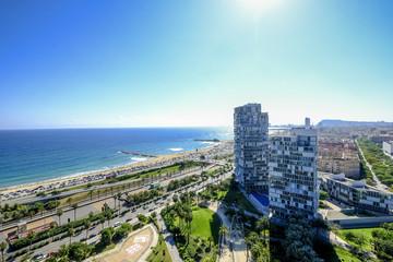 Modern Barcelona aerial view