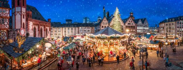 Weihnachtsmarkt auf dem Frankfurter Römer, Frankfurt am Main, Hessen, Deutschland