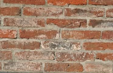 Mur ze starych cegieł