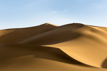 beautiful sand dunes at dusk