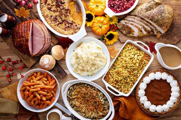 Święto Dziękczynienia z indykiem i bokami