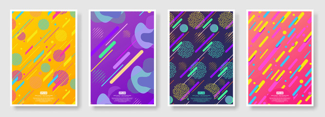 Abstract covers set with seamless background available in swatches panel