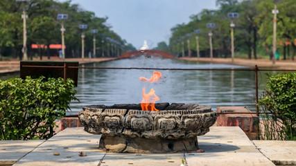 Eternal Peace Flame in Lumbini, Nepal