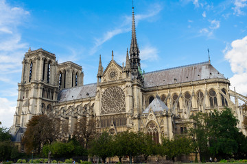Notre Dame cathedral church landmark at Paris, France