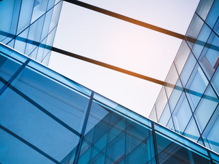 Architecture detail Glass Facade Modern Building Abstract Background