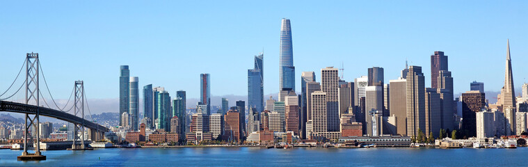 Colourful skyline of San Francisco, California