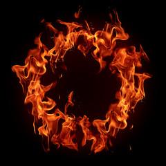 Burning fire ring