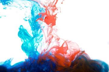 atramenty w wodzie, abstrakcja kolorów