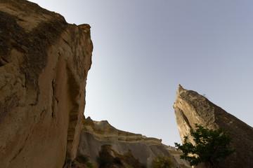 Public places Goreme open air museum Cappadocia Turkey rock formations