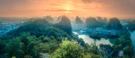 L I rzekę i góry krasowe las GUI, Yang powiedział