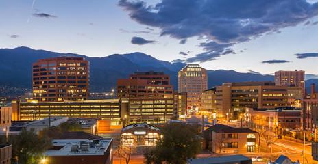Downtown Colorado Springs at Dusk