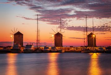 Rhodes town windmills