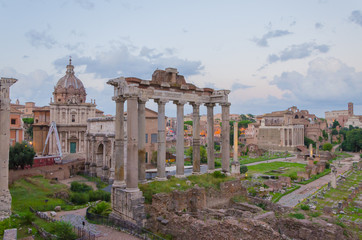 Archaeological site in the great city of Rome.