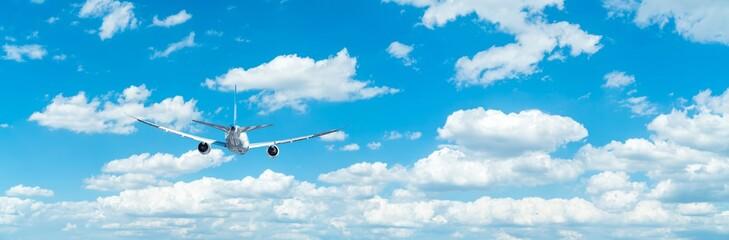 Samolot pasażerski, samolot, błękitne niebo