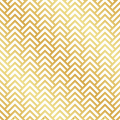Seamless gold Art Deco herringbone pattern. Abstract geometric vector pattern background.