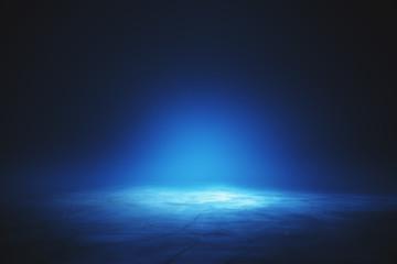 Illuminated blue wallpaper