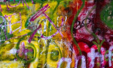 Bunte Graffitifarben