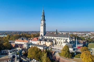 Jasna Gora monastery in Czestochowa, Poland. Aerial view