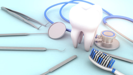 tooth and dental equipment