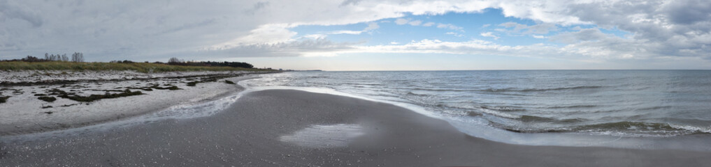 Unquiet Baltic Sea after a storm in island Hiddensee in Northern Germany