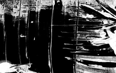 black and white paint brush strokes background