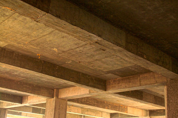 unfinished concrete cast-in-situ hall