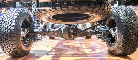 Undercarriage of a new car