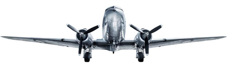 historyczny samolot odizolowywający na białym tle