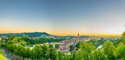Sunset view of Bern in Switzerland