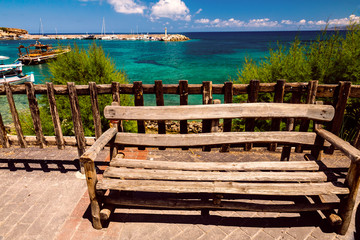Bench on the Hersonissos waterfront